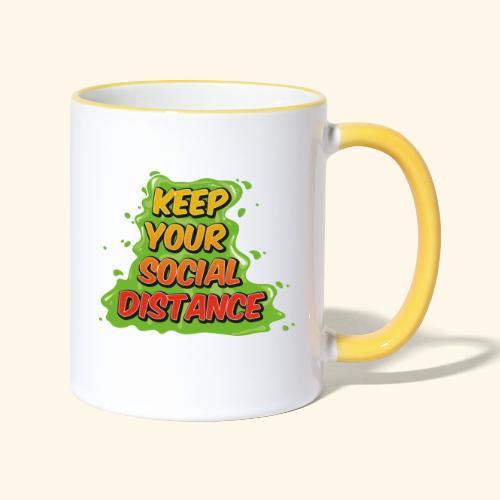 Keep your social distance - Mug contrasté