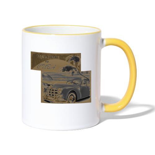 benvenuti a Cuba vecchia macchina vintage retrò - Tazze bicolor