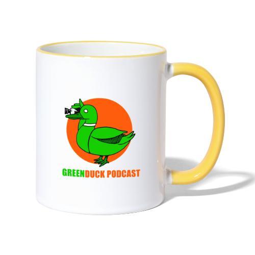 Greenduck Podcast Logo - Tofarvet krus