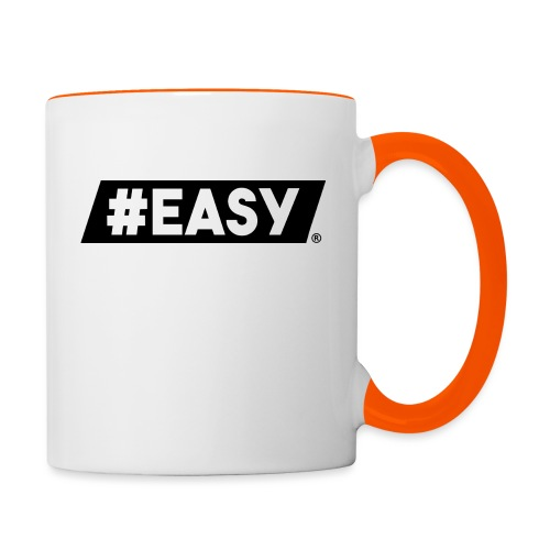 #EASY Classic Logo T-Shirt - Tazze bicolor