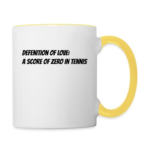 Tennis Love sweater men - Mok tweekleurig