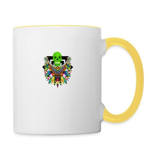 Colorfull skull - Kaksivärinen muki