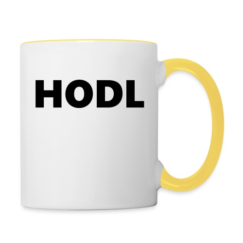Behold of the HODL trouser! - Tasse zweifarbig