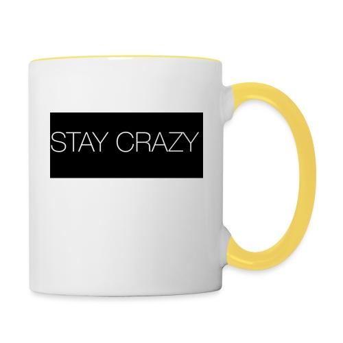 STAY CRAZY - Tvåfärgad mugg