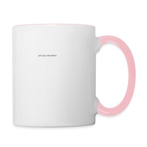 eat sleep sing - Contrasting Mug