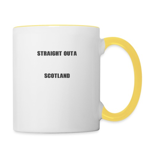 Straight Outa Scotland! Limited Edition! - Contrasting Mug