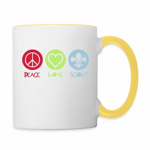 Peace Love Scout - Mug contrasté