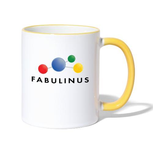 Fabulinus Zwart - Mok tweekleurig