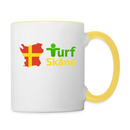 Turf Skåne Logo gul - Tvåfärgad mugg
