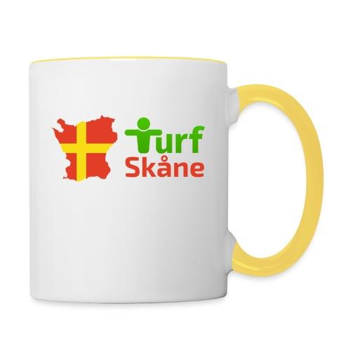 Turf Skåne Logo röd - Tvåfärgad mugg