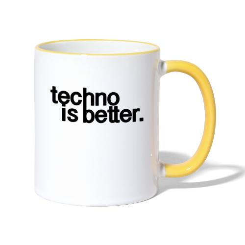 techno is better logo - Kubek dwukolorowy