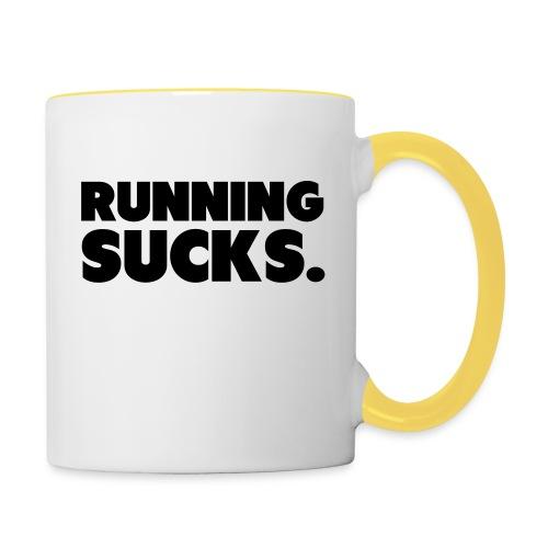 Running Sucks - Kaksivärinen muki