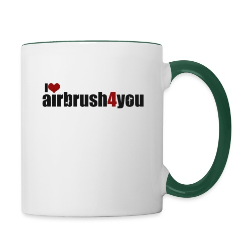 I Love airbrush4you - Tasse zweifarbig
