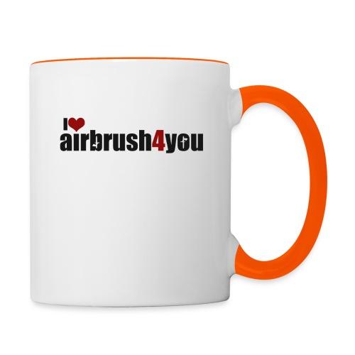 I Love airbrush4you - Tasse zweifarbig