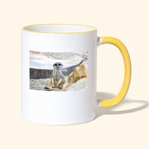 Suricate at observation post - Mug contrasté