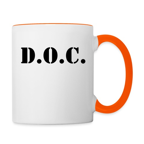 Department of Corrections (D.O.C.) 2 back - Tasse zweifarbig