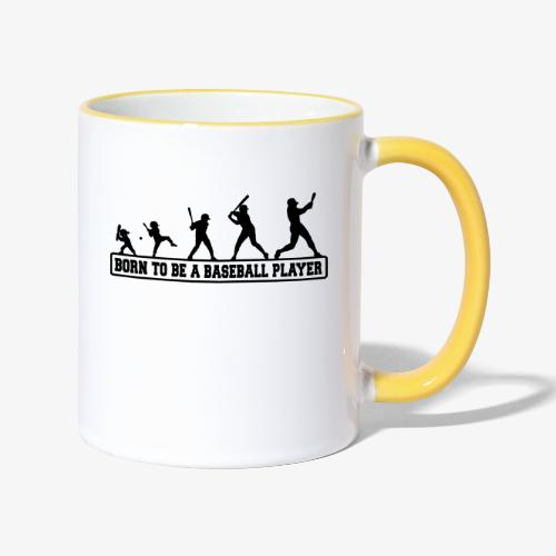 Born baseballt shirt - Mug contrasté