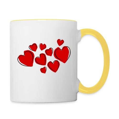 hearts herzen - Tasse zweifarbig