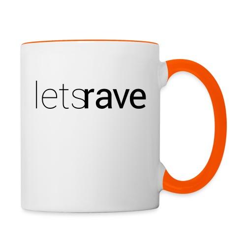 letsrave - Tasse zweifarbig