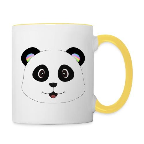 panda rainbow - Taza en dos colores