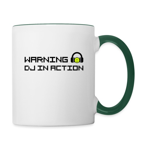 Warning DJ in Action - Mok tweekleurig