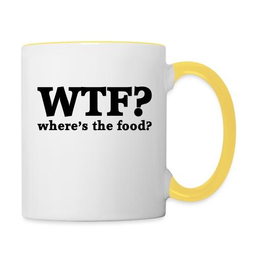 WTF - Where's the food? - Mok tweekleurig