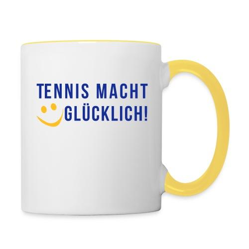 Tennis macht glücklich! - Tasse zweifarbig