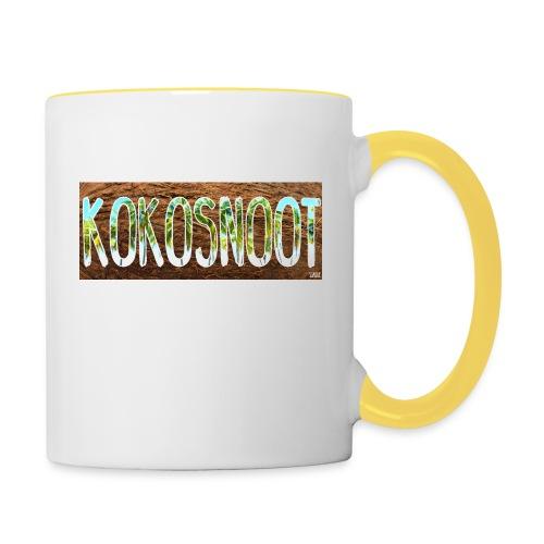 Kokosnoot - Mok tweekleurig