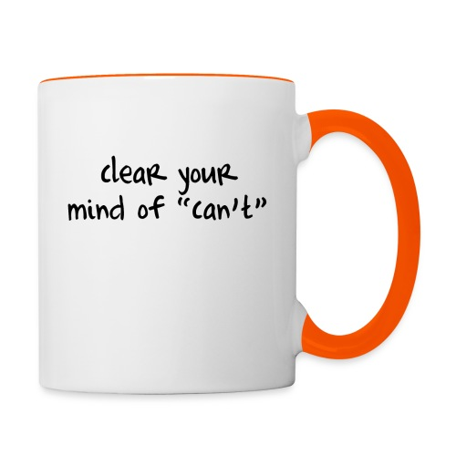 ''Clear your mind of Can't'' Motivational T-shirts - Tazze bicolor