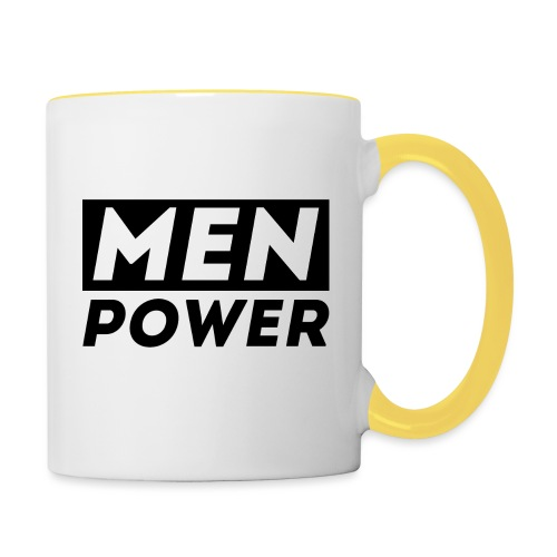 MEN POWER - Tasse zweifarbig