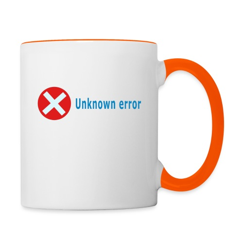 Unkown Error - Kaksivärinen muki