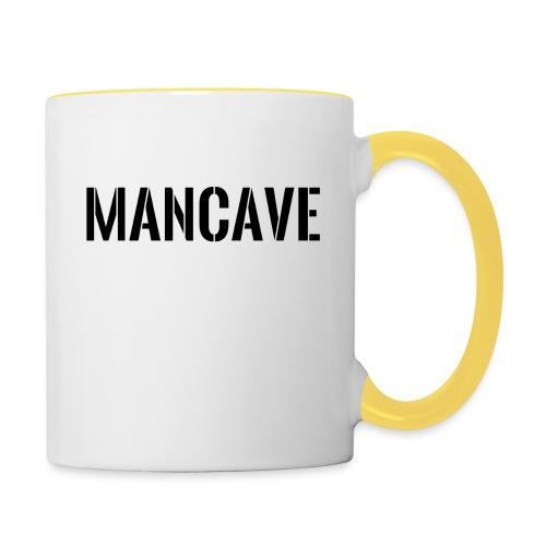 Man Cave Stencil - Tvåfärgad mugg