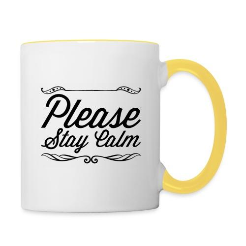 Please Stay Calm - Contrasting Mug