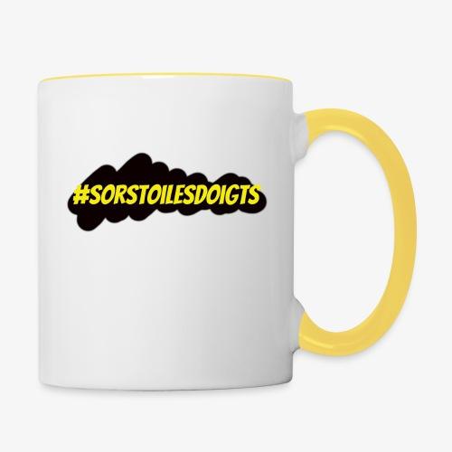 SorsToiLesDoigts - Mug contrasté