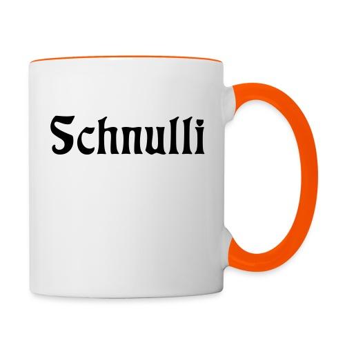 Schnulli - Tasse zweifarbig