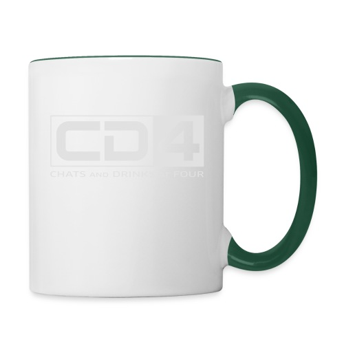 cd4 logo dikker kader bold font - Mok tweekleurig