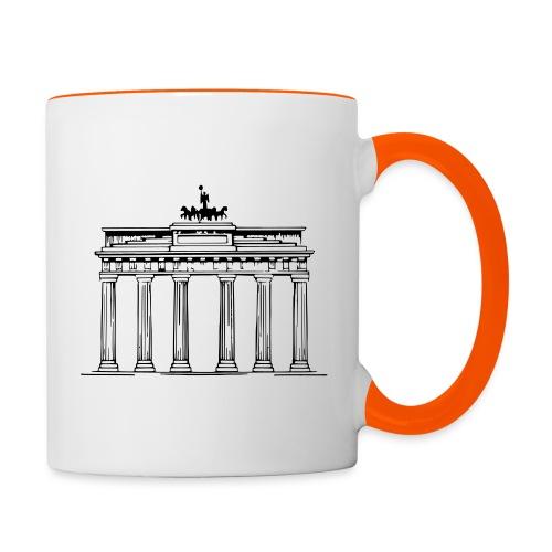 Brandenburger Tor Berlin Victoria Streitwagen - Tasse zweifarbig