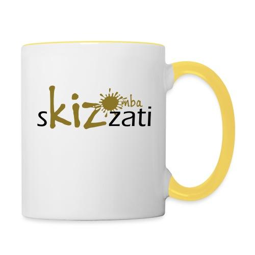 Beanie in jersey con logo sKizzati Kizomba - Verde - Tazze bicolor