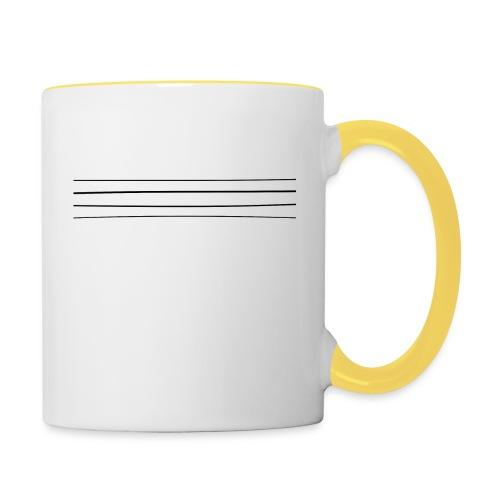 Re-entrant Womens White Tshirt - Contrasting Mug