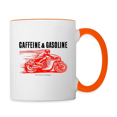 Caffeine & Gasoline black text - Contrasting Mug
