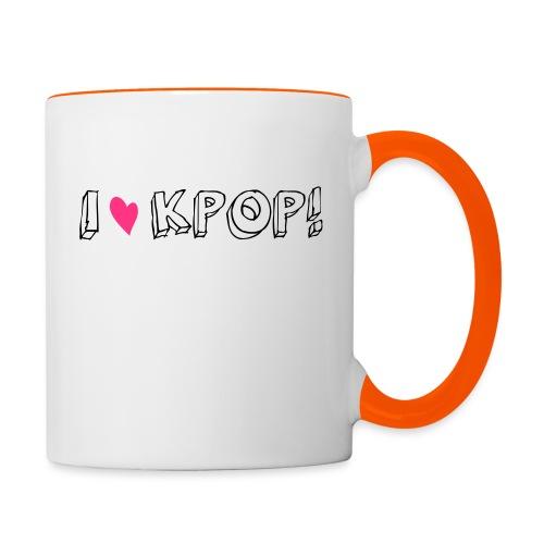 I love kpop! - Tasse zweifarbig