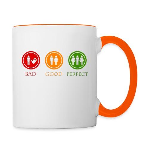 Bad good perfect - Threesome (adult humor) - Mok tweekleurig