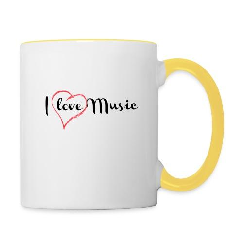 I Love Music - Tazze bicolor
