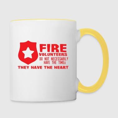 Cuerpo de bomberos: los voluntarios de bomberos no tienen necesariamente - Taza en dos colores
