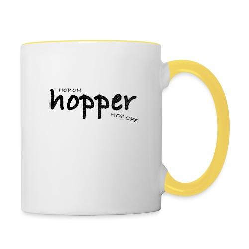 MuchoHop Hop On/Off (black) - Taza en dos colores