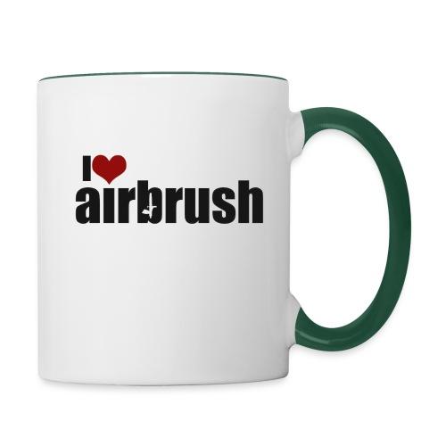 I Love airbrush - Tasse zweifarbig