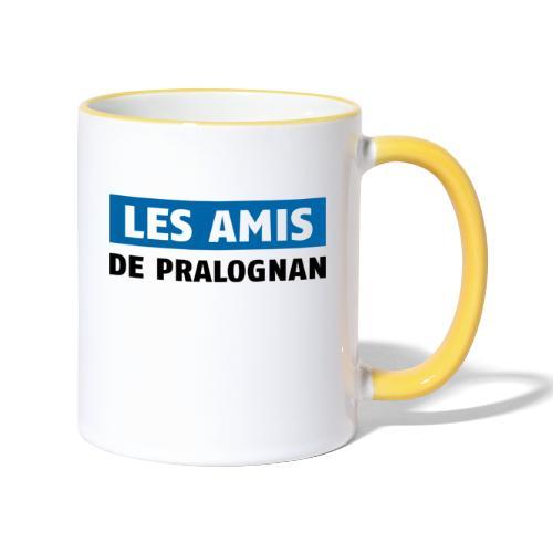 les amis de pralognan texte - Mug contrasté