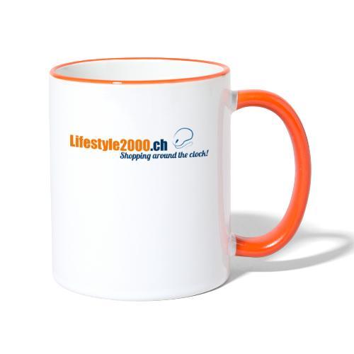 lifestyle 2000 Original Logo - Tasse zweifarbig