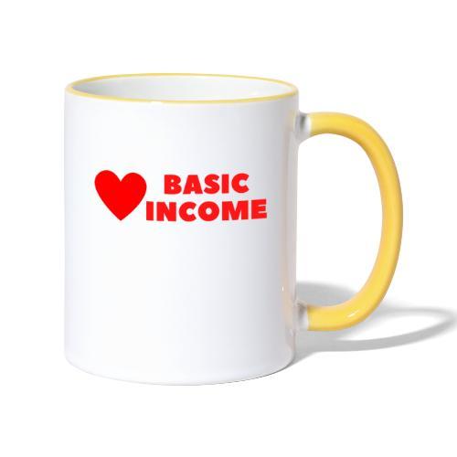 basic income red trans - Mok tweekleurig