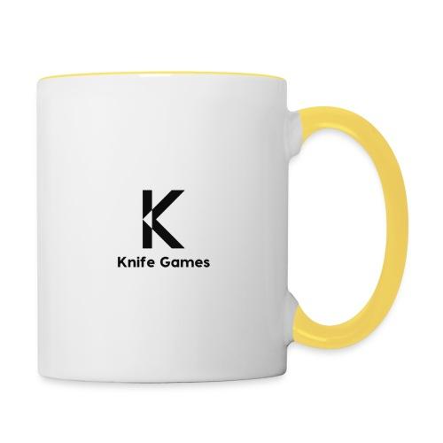 Knife Games - Tasse zweifarbig